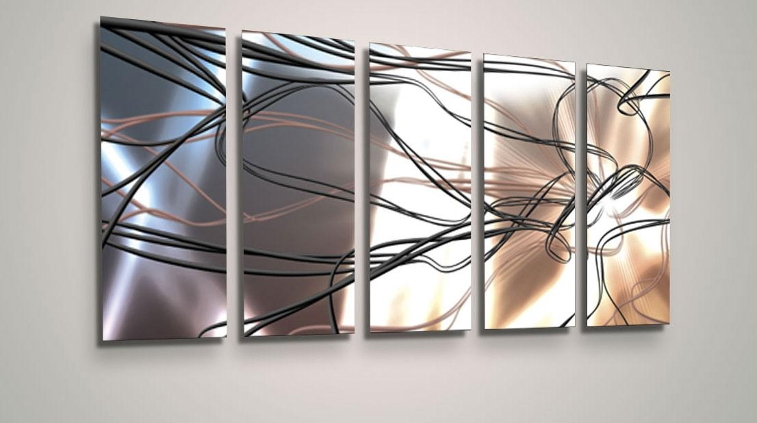 Awesome Abstract Metal Wall Art Luxwallart Pertaining To Abstract Pertaining To Abstract Angkor Swirl Metal Wall Art (Image 2 of 20)