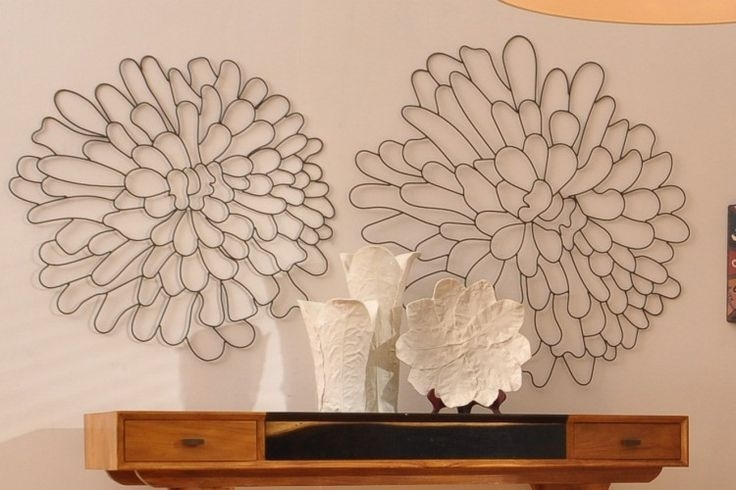 Awesome Wall Art Ideas Design Large Hanging Flower Metal Wall Art Within Abstract Flower Metal Wall Art (View 2 of 15)