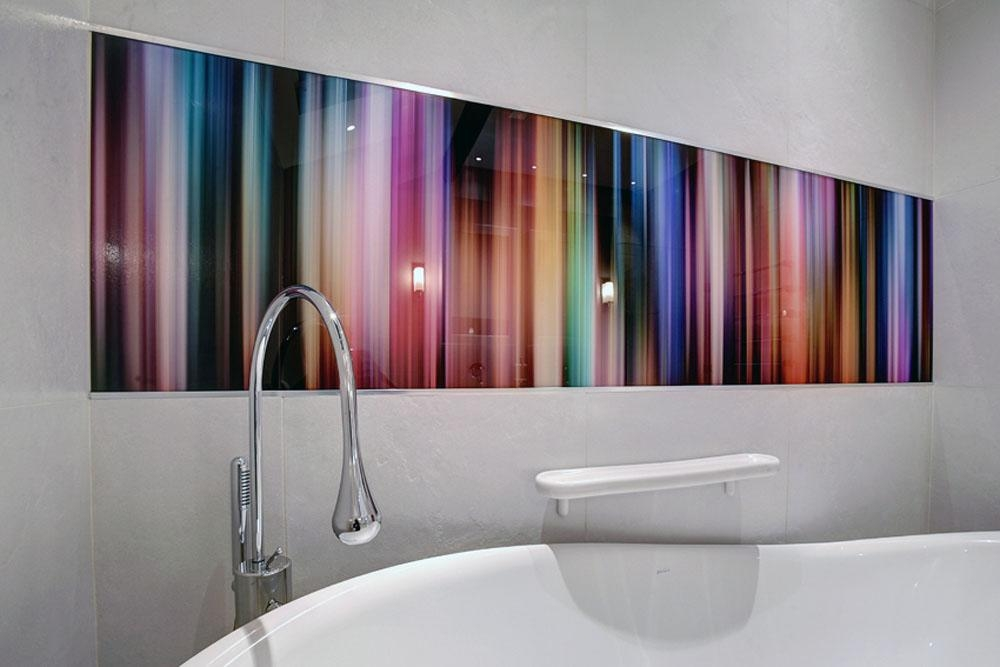 Bathrooms With Glass Shower Walls & Glass Splashbacks For Abstract Wall Art For Bathroom (Image 6 of 20)