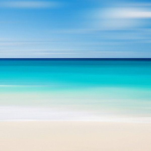 Beach Canvas Art Abstract Seascape Nautical Decor Caribbean Sea For Abstract Beach Wall Art (View 20 of 20)