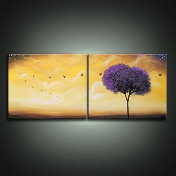 Best Abstract Tree Painting Acrylic Products On Wanelo Within Abstract Bird Wall Art (View 7 of 20)