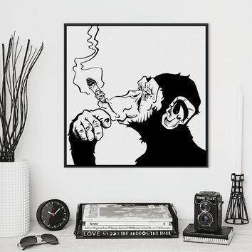 Best Black And White Abstract Canvas Products On Wanelo Pertaining To Black And White Abstract Wall Art (Image 7 of 20)