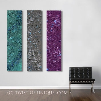 Best Purple And Gray Abstract Art Products On Wanelo In Dark Purple Abstract Wall Art (Image 4 of 15)