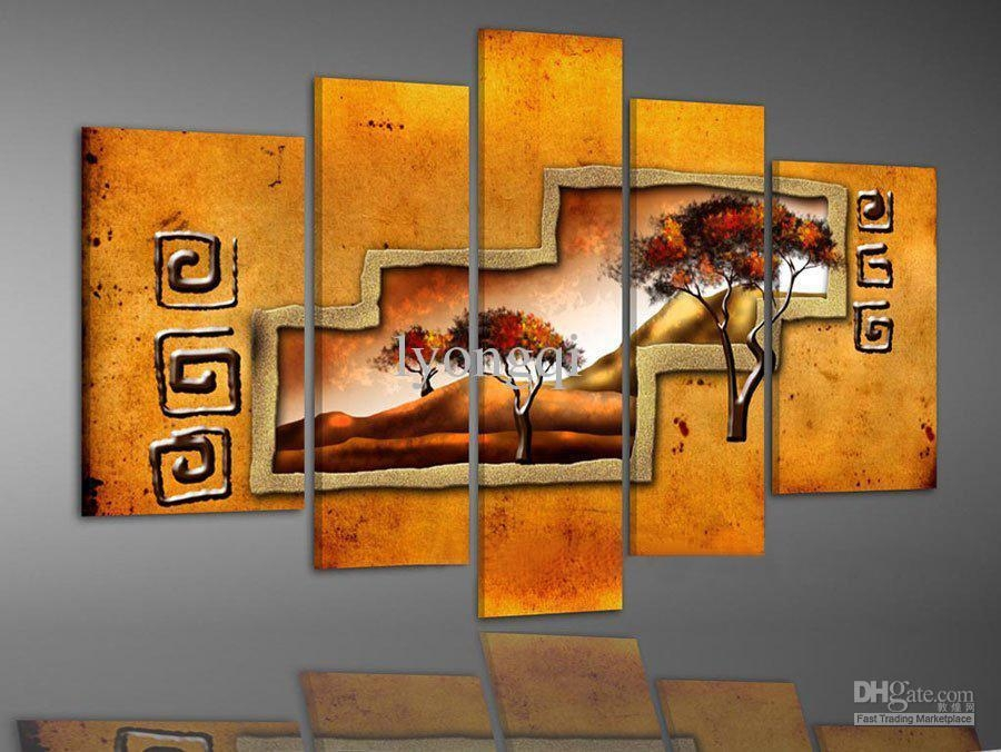Best Quality Hand Painted Hi Q Modern Wall Art Home Decorative Within Abstract African Wall Art (Image 12 of 20)
