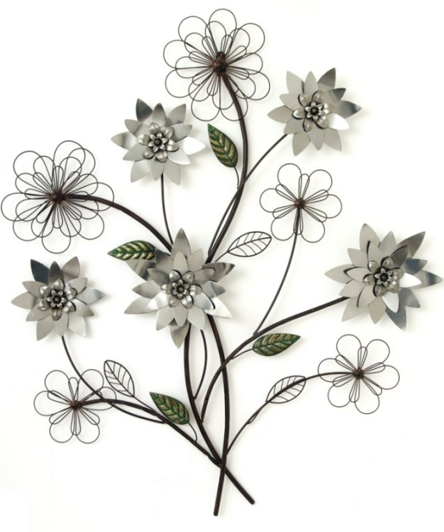 Black Iron Wall Art Art On Metal Metal Kitchen Wall Decor Outdoor Intended For Abstract Flower Metal Wall Art (Image 3 of 15)