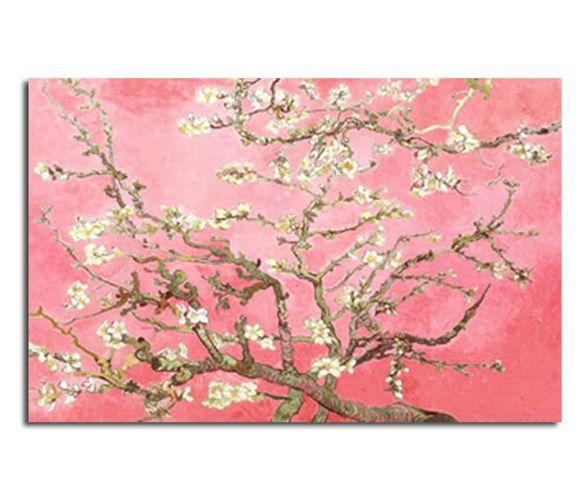 Blossomsvincent Van Gogh In Pink 30X20 Inch 52X77Cm Canvas With Almond Blossoms Vincent Van Gogh Wall Art (Image 8 of 20)