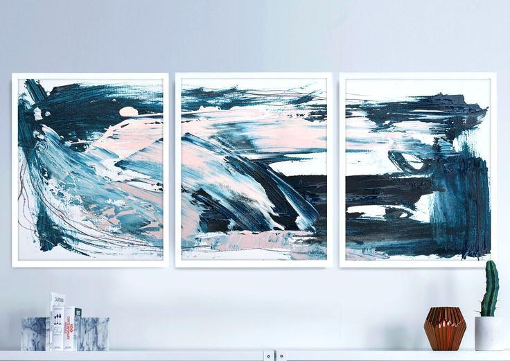 Blue Abstract Wall Art – Hydroloop Within Abstract Wall Art Canada (View 3 of 20)