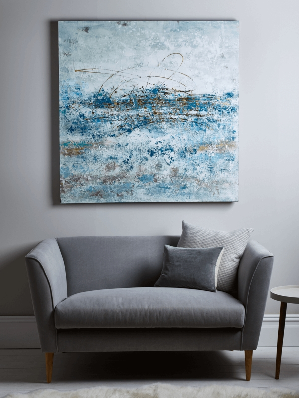 Blue Abstract Wall Art With Regard To Blue Abstract Wall Art (Image 4 of 20)
