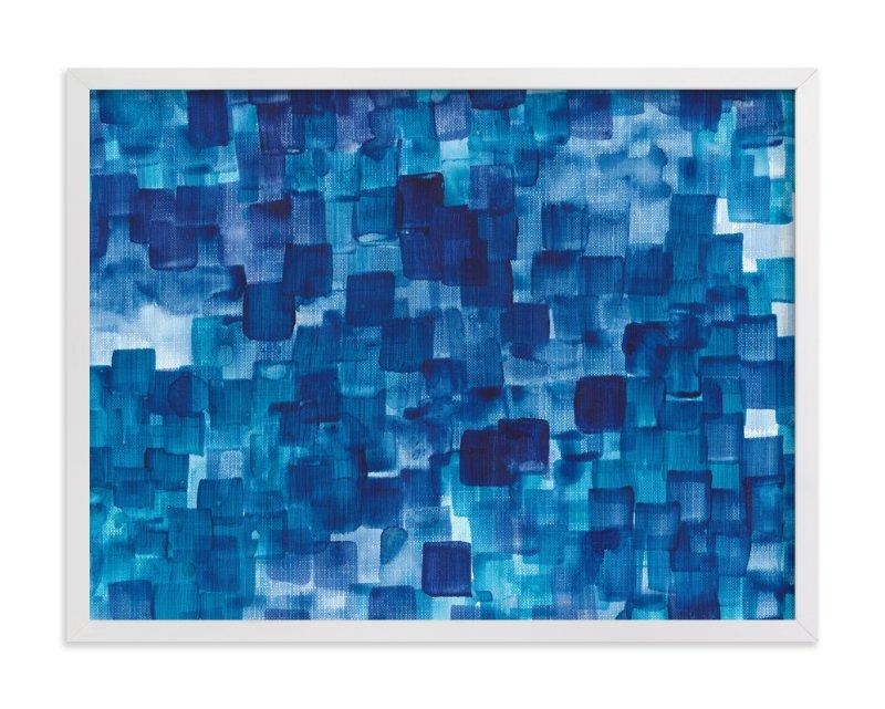 Blue One Watercolor Abstract Wall Art Printsjenny Batt | Minted Regarding Blue Abstract Wall Art (Image 5 of 20)