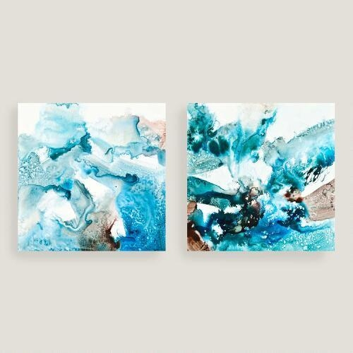 Blues Canvas Wall Art With Aqua Abstract Wall Art (Image 9 of 20)