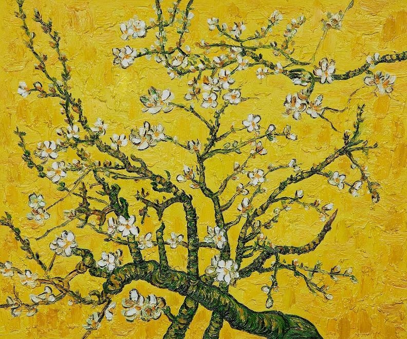 Branches Of An Almond Tree In Blossom | Vincent Van Gogh Fyi Within Almond Blossoms Vincent Van Gogh Wall Art (Image 9 of 20)