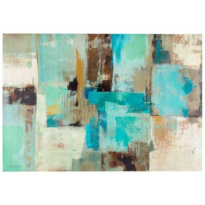 Brilliant 20+ Blue And Brown Wall Art Design Decoration Of 40 Blue With Blue And Brown Abstract Wall Art (Image 6 of 20)