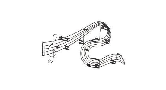 Featured Image of Abstract Musical Notes Piano Jazz Wall Artwork