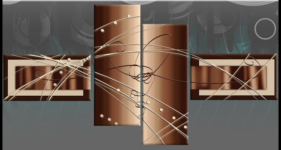 Brown Beige White Wide Stretch Panel Abstract Canvas Wall Art Intended For Brown Abstract Wall Art (View 9 of 20)
