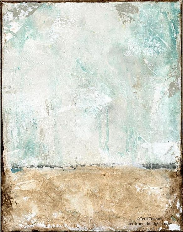Brown Blue Abstract Acrylic Painting Within Dwell Abstract Wall Art (Image 10 of 15)