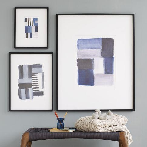Brushstroke Wall Art – West Elm Throughout Framed Abstract Wall Art (Image 8 of 20)