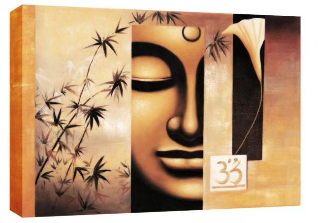Buddha Abstract Canvas Wall Art Picture Large 113 X 80Cm 45X32 Inside Abstract Buddha Wall Art (Image 5 of 20)