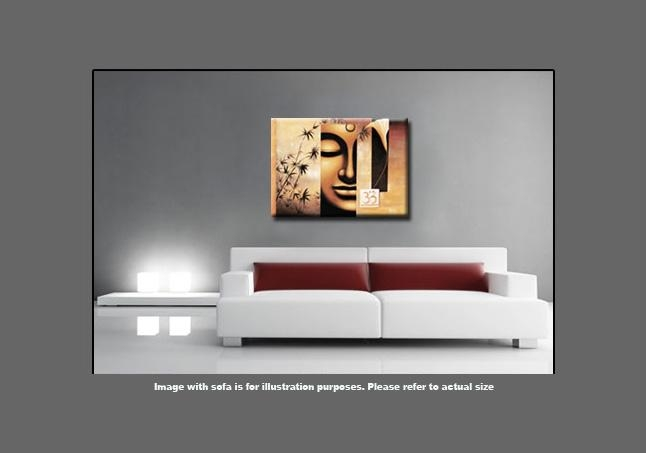 Buddha Abstract Canvas Wall Art Picture Large 113 X 80Cm 45X32 Within Abstract Buddha Wall Art (Image 6 of 20)