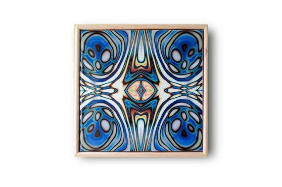 Ceramic Tile Art Abstract Wall Art Art Nouveau Style Blue With Regard To Abstract Ceramic Wall Art (Image 10 of 16)