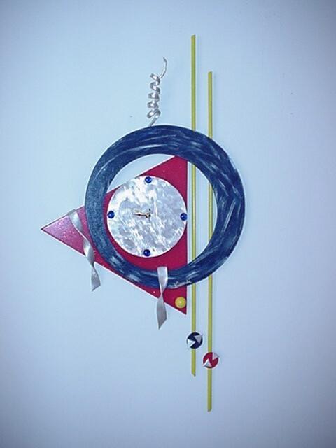 Clock,clocks,contemporary Wall Clocks,brushed Aluminum Clocks And With Abstract Clock Wall Art (View 6 of 20)