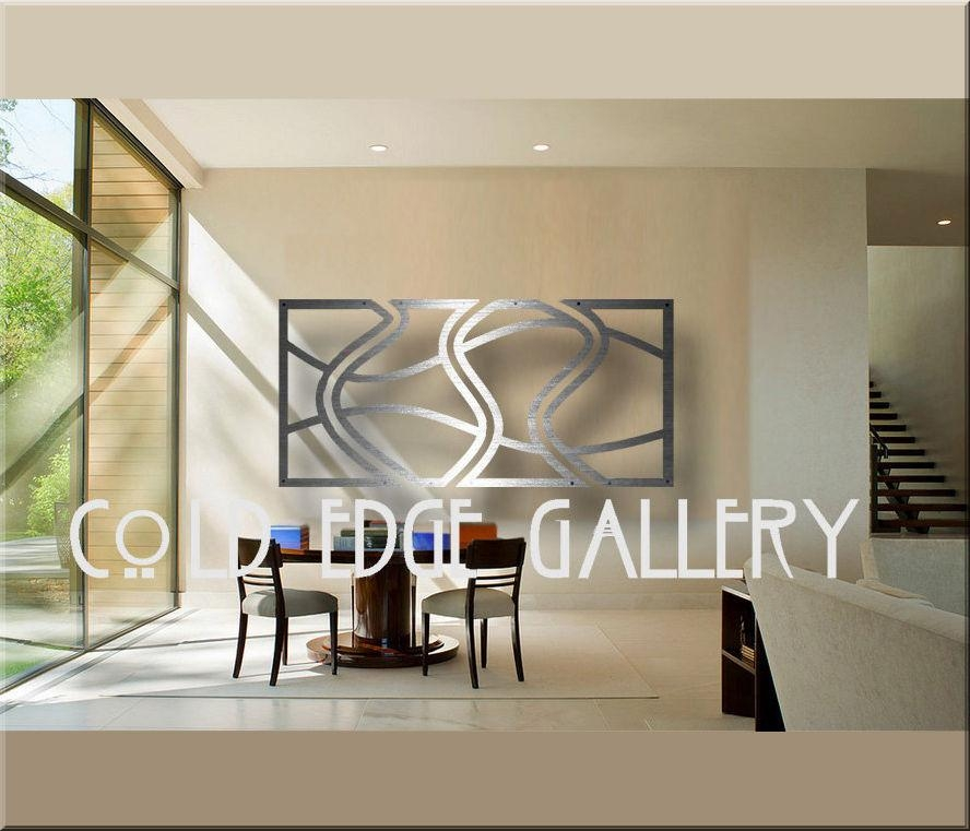 Cold Edge Gallery Large Metal Wall Art Abstract Contemporary Within Aluminum Abstract Wall Art (Image 14 of 20)