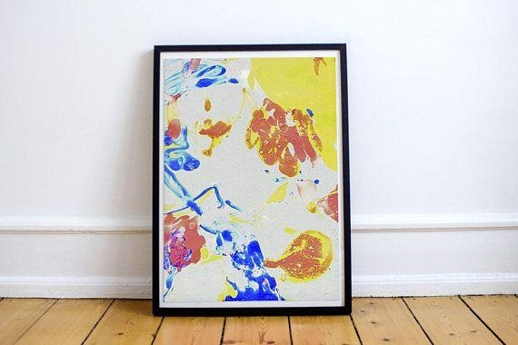 Colorful Abstract Painting. Expressive Wall Decor (Image 10 of 20)