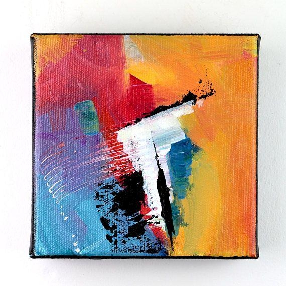 Colorful Bold Abstract Painting On Canvas/ Modern Art/ Acrylic Pertaining To Bold Abstract Wall Art (Image 11 of 20)