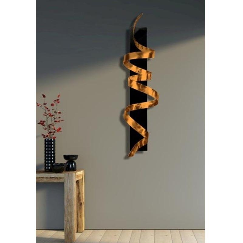 Copper Knight – Copper Abstract 3D Twist Metal Wall Art Sculpture Inside Sculpture Abstract Wall Art (View 12 of 20)