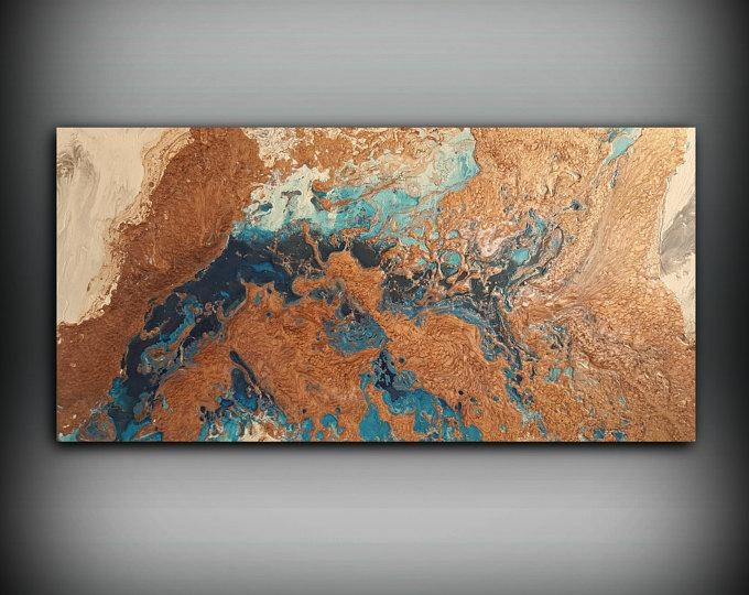 Copper Paintings – L Dawning Scott Fine Art In Abstract Copper Wall Art (Image 5 of 20)