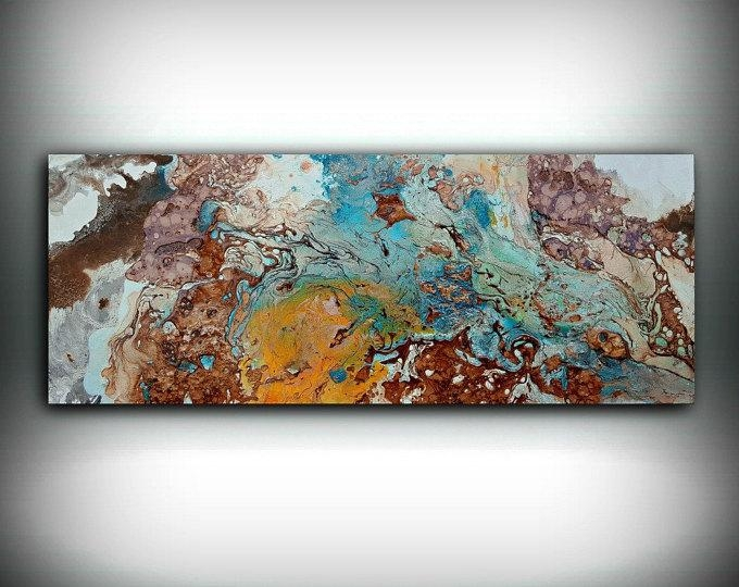 Copper Paintings - L Dawning Scott Fine Art regarding Abstract Copper Wall Art