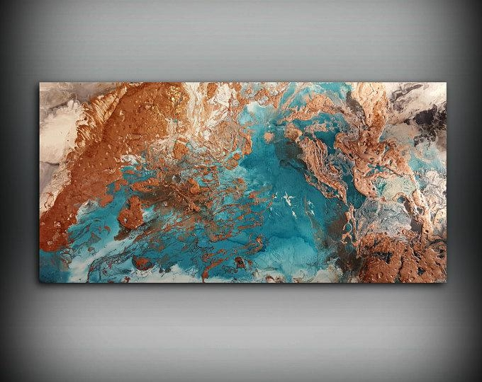Copper Paintings – L Dawning Scott Fine Art Within Abstract Copper Wall Art (Image 7 of 20)