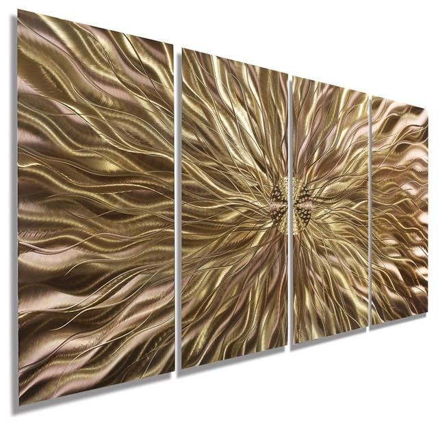 Copper Static Metal Wall Art Paintingjon Allen – Contemporary For Abstract Copper Wall Art (Image 8 of 20)