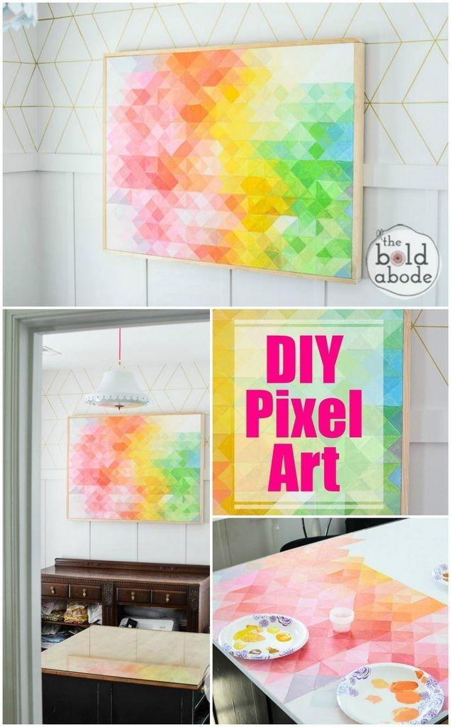Craftionary In Diy Abstract Wall Art (Image 7 of 20)