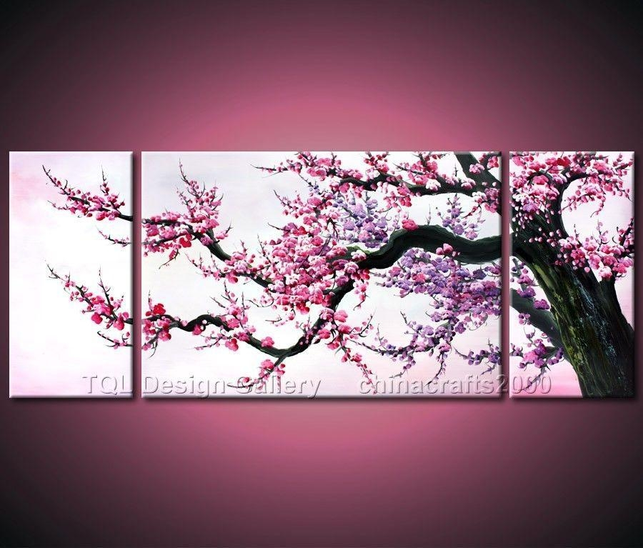 Cuadro Ramas Arbol – Buscar Con Google | Wall Frames | Pinterest In Cherry Blossom Oil Painting Modern Abstract Wall Art (View 14 of 20)