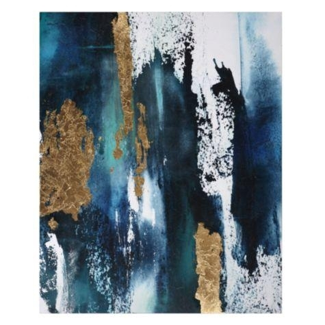 Dark Blue Gold Art – Products, Bookmarks, Design, Inspiration And Intended For Dark Blue Abstract Wall Art (Image 6 of 15)