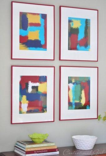 Design Ideas – Colorful Abstract Wall Art Frames | Decoviewer Intended For Diy Abstract Wall Art (Image 8 of 20)