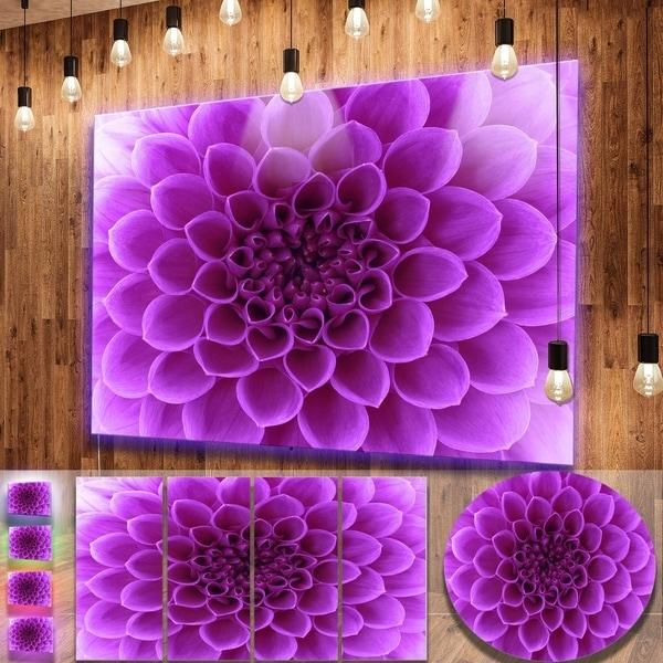 Designart 'light Purple Abstract Flower Petals' Modern Floral Inside Abstract Flower Metal Wall Art (Image 5 of 15)