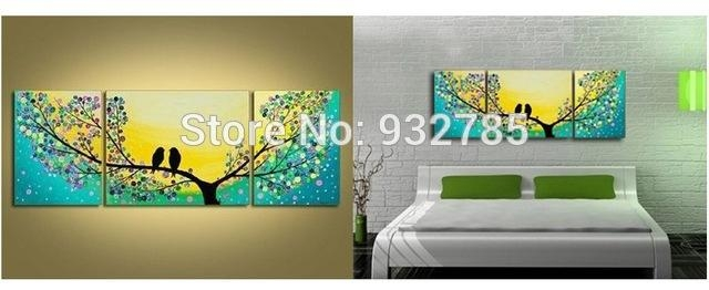Directly From Artist 100% Handmade Modern Abstract Bird Tree Oil With Regard To Abstract Bird Wall Art (View 8 of 20)