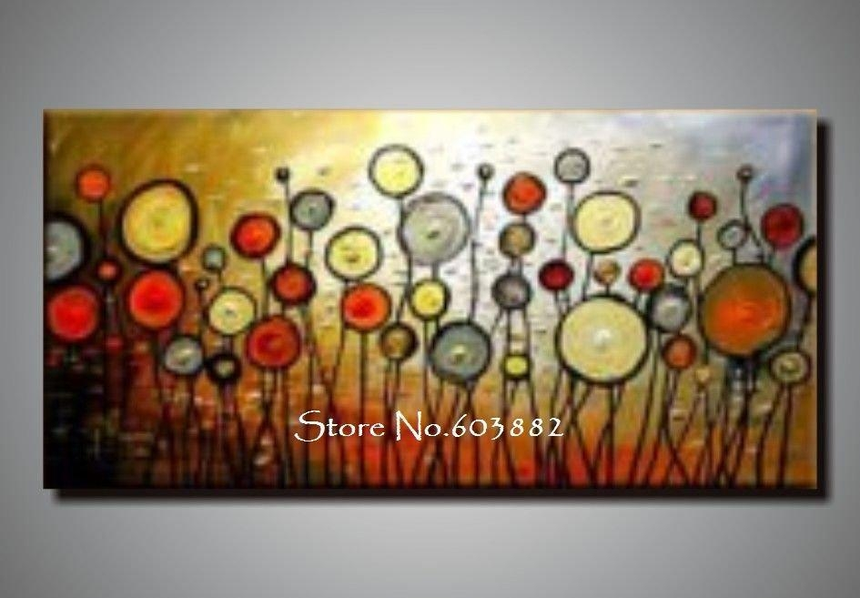 Discount 100% Handmade Large Canvas Wall Art Abstract Painting On Pertaining To Abstract Wall Art Canvas (View 7 of 20)