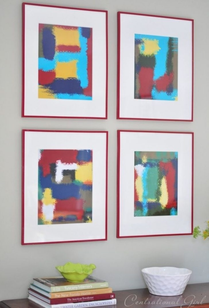 Diy Projects: Abstract Wall Art Frames – 50 Beautiful Diy Wall Art Intended For Diy Modern Abstract Wall Art (Image 7 of 15)