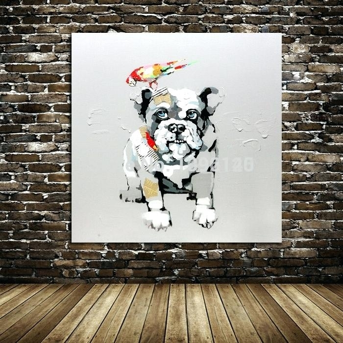 Dog Wall Art Decor Beautiful Lovely Dog Animal Canvas Wall Art With Abstract Dog Wall Art (Image 6 of 15)