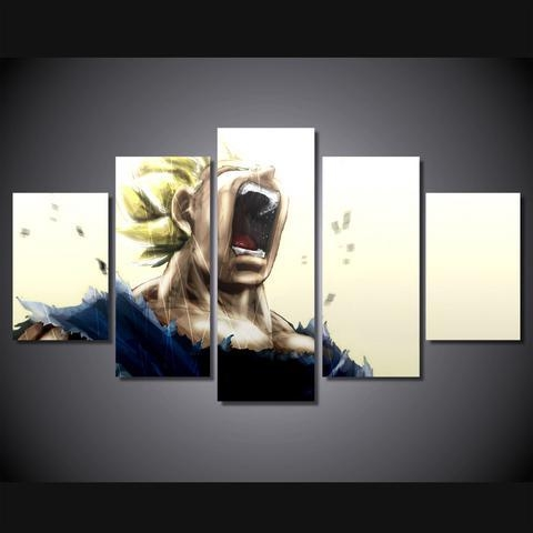 Dragon Ball Z – Super Saiyan 5 Piece Canvas Limited Edition – The Throughout Limited Edition Canvas Wall Art (View 4 of 20)