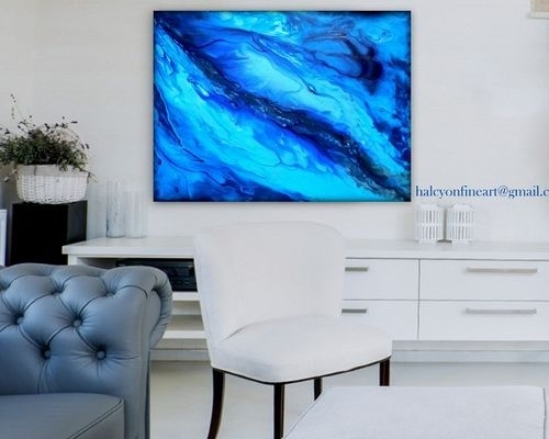 """Dwell Large Wall Art Abstract Water Or Print Up To 48""""halcyon With Regard To Dwell Abstract Wall Art (Image 12 of 15)"""