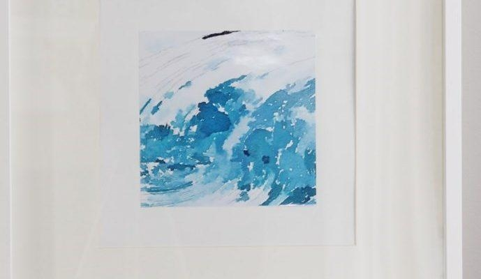 Easy Diy Watercolor Abstract Wall Art – Savvymom Regarding Diy Abstract Wall Art (Image 14 of 20)