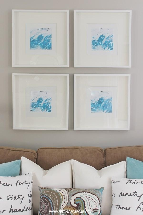 Easy Diy Watercolor Abstract Wall Art – Setting For Four Pertaining To Diy Abstract Wall Art (Image 15 of 20)