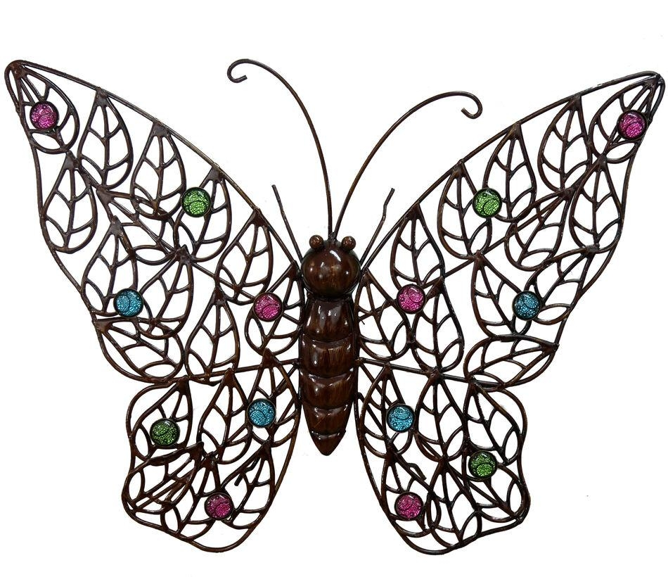 Elegant Butterfly Garden Wall Art Large Metal Wall Art Outdoor Regarding Abstract Butterfly Wall Art (View 14 of 20)