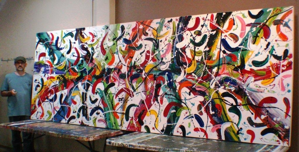 Extra Large Abstract Canvas Art Carnivale Glenn Farquhar Abstract Regarding Extra Large Abstract Wall Art (Image 4 of 15)