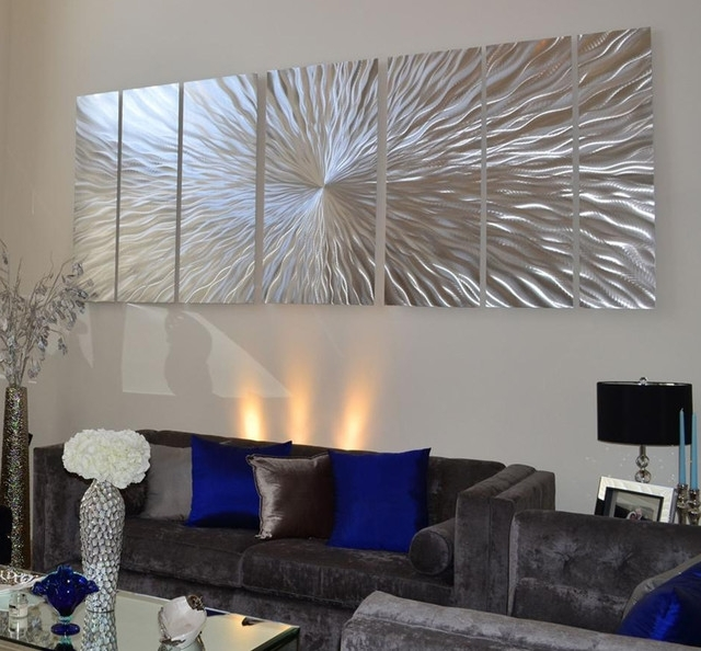 Extra Large Art – Contemporary – Miami  Jon Allen Fine Metal Art Inside Extra Large Abstract Wall Art (Image 5 of 15)