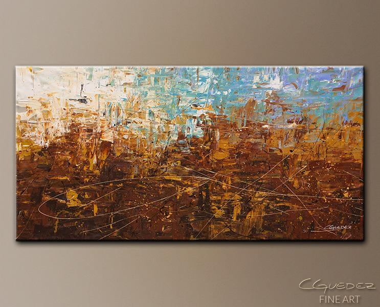 Featured Image of Blue And Brown Abstract Wall Art