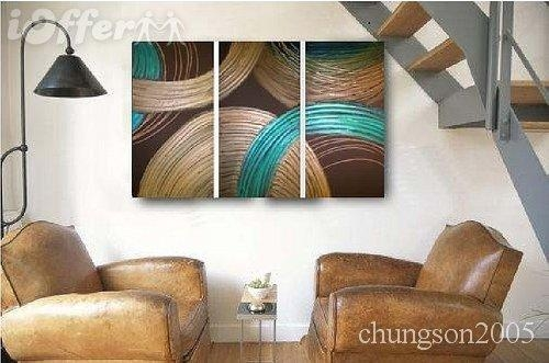Framed! Modern Abstract Wall Art Oil On Canvas Painting For Sale With Abstract Wall Art Canvas (Image 11 of 20)